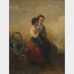 Henri van Seben (Belgian, 1825-1913)    In the Field