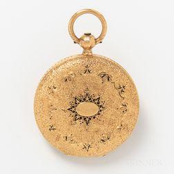18kt Gold Charles F. Tissot Hunter-case Watch