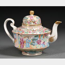 Chinese Export Porcelain Mandarin-decorated Teapot