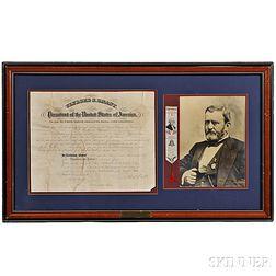 Grant, Ulysses S. (1822-1885) Document Signed, 21 December 1875.