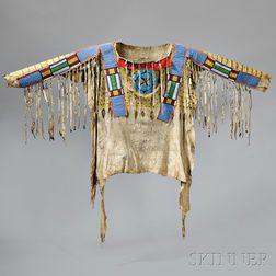 Blackfoot Beaded and Painted Antelope Hide Shirt