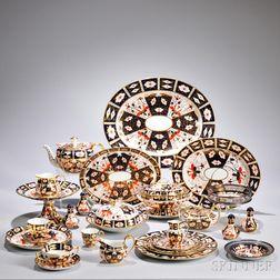 Assembled Royal Crown Derby Porcelain Partial Service