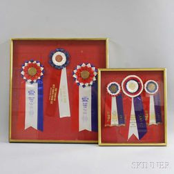 Two Gilt Display Frames and AKC Ribbons