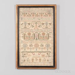 Dated 1786 Mary Lee Needlework Sampler