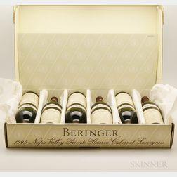 Beringer Cabernet Sauvignon Reserve 1995, 6 bottles (pc)