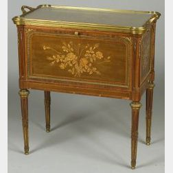 Louis XVI Style Fruitwood Marquetry and Parquetry Inlaid and Ormolu Mounted Server