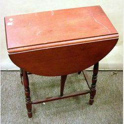 Diminutive William & Mary Style Maple Drop-leaf Gate-leg Table.