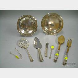 Eight Sterling Tablewares