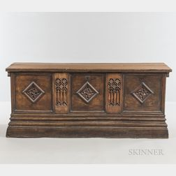 Gothic-style Walnut Chest