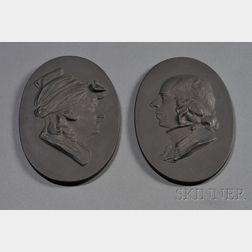 Pair of Wedgwood Black Basalt Portrait Plaques