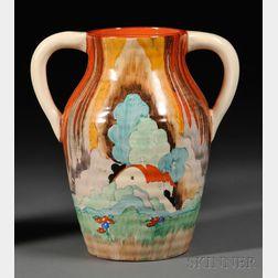 Clarice Cliff Bizarre Ware Lotus Vase