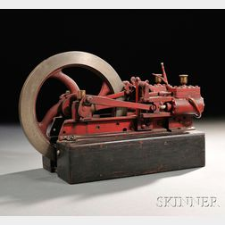 Two H. Hong's Stationary Steam Engines