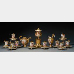 Partial Nast Paris Porcelain Tea Service