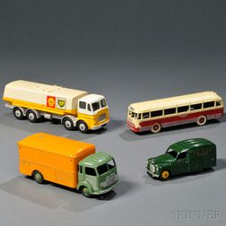 Four Meccano Dinky Toys Die-cast Metal Vehicles