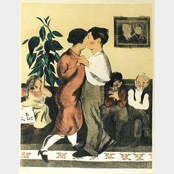 Raphael Soyer (Russian/American, 1899-1987)      Dancing Lesson