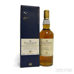 Talisker 18 Years Old, 1 750ml bottle (oc)