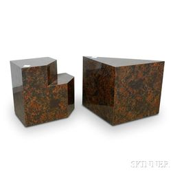 Two Contemporary Geometric Display Stands