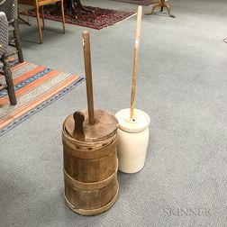Two Butter Churns