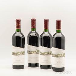 Robert Mondavi Cabernet Sauvignon Reserve 1989, 4 bottles