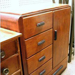 "Edison Wood Products Art Deco ""Edison Little Folk's Furniture"" Child's Maple   Dressing Cabinet"