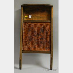 Bennington Glazed Stoneware Washboard with Wood Frame
