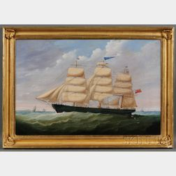 Anglo/American School, 19th Century      Portrait of the British Ship James Duncan   Sailing in Coastal Waters.