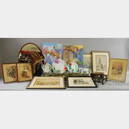 Group of Asian and Miscellaneous Decorative Items with a Set of China