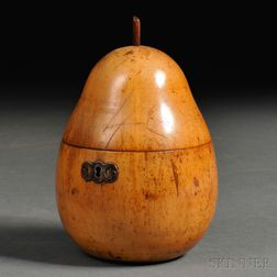 Fruitwood Pear-form Tea Caddy