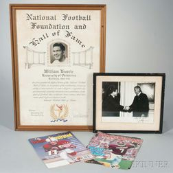"Group of Memorabilia and Ephemera Relating to University of Oklahoma Star Halfback William ""Billy"" Vessels"