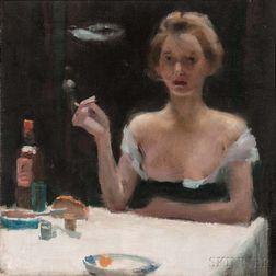 Willard LeRoy Metcalf (American, 1858-1925)    Respite in the Boudoir