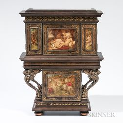Austrian Painted Miniature Cabinet