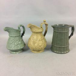 Three Ridgway Ceramic Pitchers