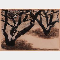 Masaharu Aoyama (Japanese, 1893-1969)      White Plum