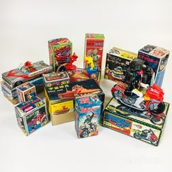 Ten Japanese Boxed Toys and Two Empty Boxes