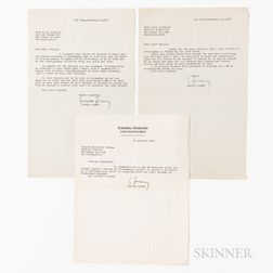 Fermi, Enrico (1901-1954) Three Typed Letters Signed
