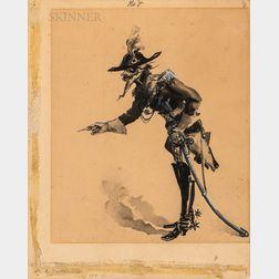 Albert Sterner (American, 1863-1946)      Baron Munchausen, No. 8