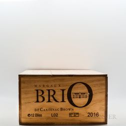Brio de Cantenac Brown 2016, 12 bottles (owc)