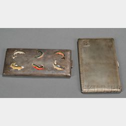 Two Sterling Cigarette Cases