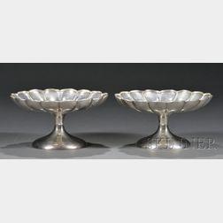 Pair of Crichton Bros. Silver Compotes