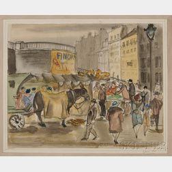 Emil Ganso (American, 1895-1941)      Paris Market.