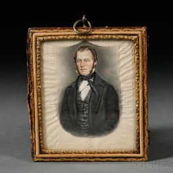 James Sanford Ellsworth (American, 1802/03-1874)      Portrait Miniature of a Gentleman, Reportedly a Self-portrait of the Artist