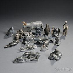 Fifteen Inuit Sculptures