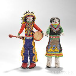 Pair of Zuni Beaded Dolls