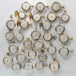 Twenty-nine Waltham Watches