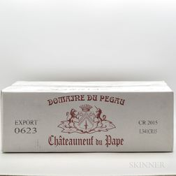 Domaine du Pegau Chateauneuf du Pape Cuvee Reservee 2015, 12 bottles (oc)