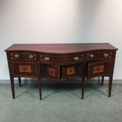 Federal Inlaid Mahogany Serpentine-front Sideboard