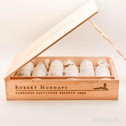 Robert Mondavi Cabernet Sauvignon Reserve 1995, 6 bottles (owc)