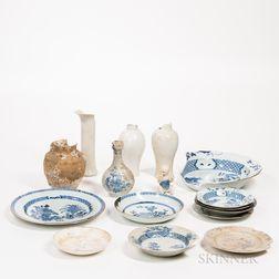 Sixteen Shipwreck Ceramics