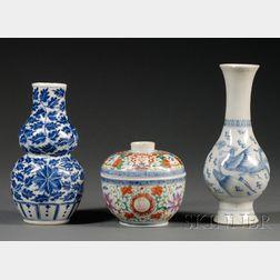 Three Porcelain Pieces