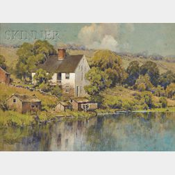 Hezekiah Anthony Dyer (American, 1872-1943)      The White House on the Lake